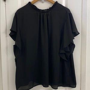 5/25 SHEIN black short sleeve blouse